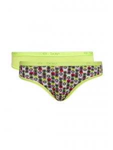 Soie Multicolor Cotton/spandex Panty For Women Pack Of 2 (code - 2hr_7circles)
