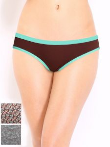 Soie Hibiscus Cotton/spandex Panty For Women Pack Of 2 (code - 3bk-4hibiscus)