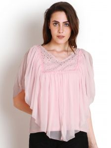 "Soie Casual Short Sleeve Solid Women""s Top(product Code)_5438pink_"