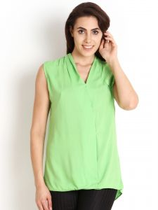 "Soie,Port,Ag,Arpera Women's Clothing - Soie Casual Sleeveless Solid Women""s Top(Product Code)_5450Green_"