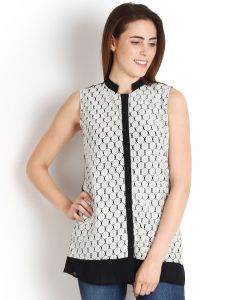 "Soie Casual Sleeveless Solid Women""s Top(product Code)_5458black_"