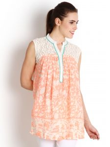 "Lime,Soie Women's Clothing - Soie Printed Women""s Tunic(Product Code)_5464Print_"
