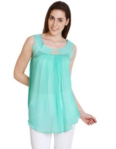 "soie Tops & Tunics - Soie Solid Women""s Tunic(Product Code)_5467Green_"