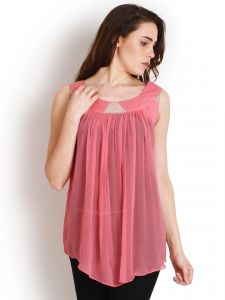 "Soie Solid Women""s Tunic(product Code)_5467pink_"