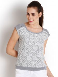 "Soie Casual Short Sleeve Solid Women""s Top(product Code)_5496white_"