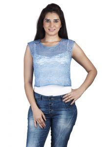 "Pick Pocket,Parineeta,Arpera,Tng,Soie,The Jewelbox Women's Clothing - Soie Casual Women""s Top(Product Code)_5501Blue_"