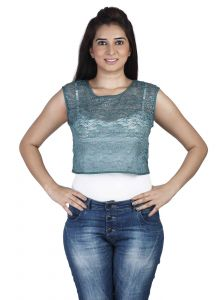 "Rcpc,Soie,Surat Diamonds,Port,Jharjhar,La Intimo Women's Clothing - Soie Casual Women""s Top(Product Code)_5501D.Green_"