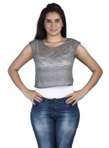 "Soie Casual Women""s Top(product Code)_5501grey_"
