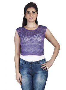 "Triveni,Lime,La Intimo,The Jewelbox,Cloe,Pick Pocket,Surat Tex,Soie,Kaara Women's Clothing - Soie Casual Women""s Top(Product Code)_5501Purple_"