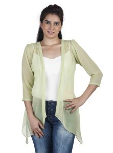 "Hoop,Shonaya,Soie,Platinum,Arpera Women's Clothing - Soie Women""s Shrug(Product Code)_5506Green_"