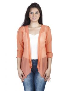 "Soie Women""s Shrug(product Code)_5506orange_"