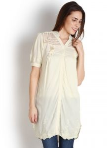 "Soie Solid Women""s Tunic(product Code)_5510white_"