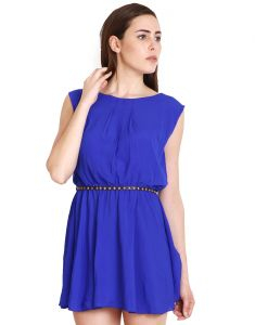 "Soie Women""s Shift Blue Dress(product Code)_5524 (b)blue_"