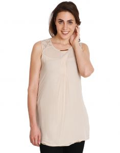 "Soie,Port,Arpera Women's Clothing - Soie Solid Women""s Tunic(Product Code)_5528Beige_"