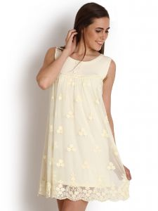 "Lime,Soie,Jagdamba,Tng,Surat Diamonds Women's Clothing - Soie Women""s Shift White Dress(Product Code)_5529Off White_"