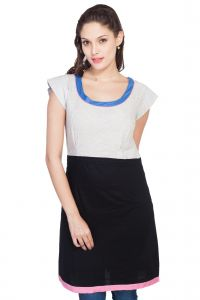 "Soie,Surat Diamonds Women's Clothing - Soie Women""s Sheath Black, Grey Dress(Product Code)_5534Grey_"