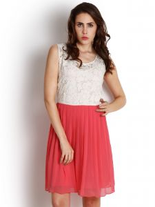 "Soie Women""s A-line Pink Dress(product Code)_5536pink_"