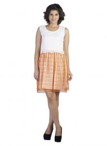 "Soie Women""s A-line White Dress(product Code)_5540white_"