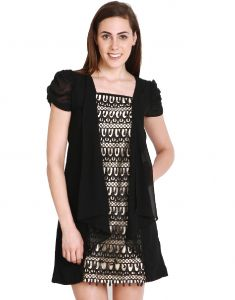 "Soie Women""s Shift Black Dress(product Code)_5559black_"