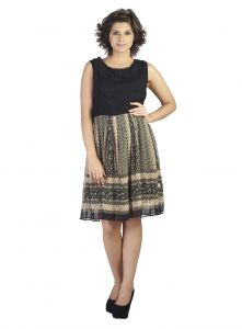 "soie,unimod Western Dresses - Soie Women""s A-Line Multicolor Dress(Product Code)_5564Print_"