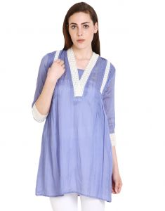 "Soie Solid Women""s Tunic(product Code)_5570 (i)purple_"