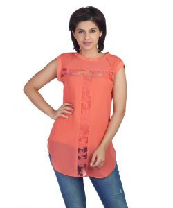 rcpc,mahi,ivy,soie Tops & Tunics - Soie Sleeveless  Top, Brasso Panels & Ribat The Neck & Armholes(Product Code)_5770(I)Peach_