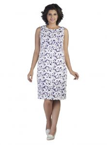 La Intimo,Shonaya,Triveni,Jpearls,Estoss,Cloe,Soie Women's Clothing - Soie Featuring A Embroidered Shift Dress (Product Code)_5828Purple_