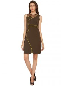 Rcpc,Soie,Cloe Women's Clothing - Soie A Line Straight Cut Out Party Dress (Product Code - 6420)