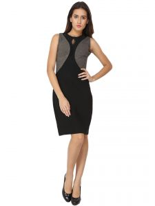 Soie,Port,Ag Women's Clothing - Soie Regular Fit Straight Casual Dress (Product Code - 6459)