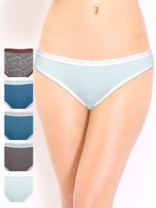 Soie Multicolor Cotton Panty For Women Pack Of 6 (code - 6bf_9saver_pack)