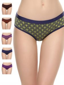Soie,Unimod,Valentine,See More,Cloe,Gili,Asmi Lingerie - Soie Women's Hipster Multicolor Panty(Pack of 6) (Code - 6HR-2PACK 1)