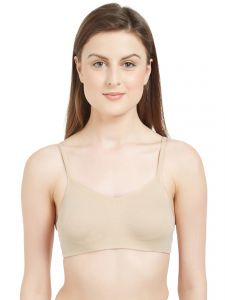 Soie,Port Women's Clothing - Soie Women's Non-Padded Non-Wired Beginners Bra (Code - BB-04NUDE)