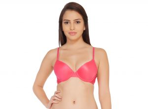 Soie Rouge Red Polyester / Spandex Bra For Women (code - Cb-105rouge_red)