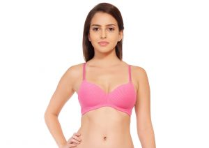 Women's Clothing - SOIE Pinkstrawberry Cotton / Spandex Bra For Women (Code - CB-106PINKSTRAWBERRY)