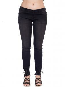 Soie Women's Clothing - Soie Black Wash Denim(Product Code)_D-02Faded Black_
