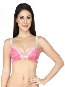 Soie Multicolor Nylon Spandex Bra For Women (code - Fb-517diamonds)