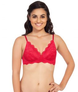 Women's Clothing - SOIE Raspberry Nylon+Lycra Bra For Women (Code - FB-703RASPBERRY)