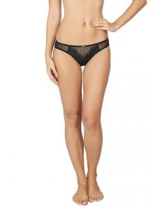 Soie Black Nylon Spandex Panty For Women (code - Fp-1607black)