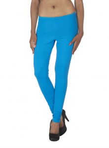 Hoop,Shonaya,Soie,Vipul,Kaamastra Women's Clothing - Soie Solid Leggings Available In Many Colours (Product Code)_L-16Blue 24_