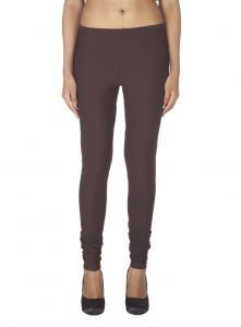 Soie,Port,Ag,Arpera Women's Clothing - Soie Solid Leggings Available In Many Colours (Product Code)_L-16Brown 9_