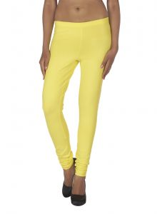 Vipul,Oviya,Soie,Kaamastra Women's Clothing - Soie Solid Leggings Available In Many Colours (Product Code)_L-16B.Yellow 33_