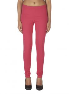 Hoop,Shonaya,Soie,Vipul,Kaamastra Leggings - Soie Solid Leggings Available In Many Colours (Product Code)_L-16D.Pink 16_