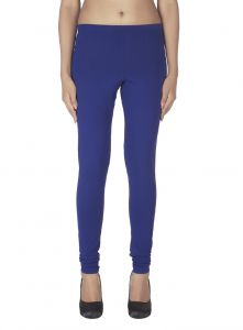 Triveni,Platinum,Port,Mahi,Clovia,Estoss,Soie Women's Clothing - Soie Solid Leggings Available In Many Colours (Product Code)_L-16Ink Blue 34_
