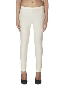 Surat Tex,Soie,Avsar,Fasense Leggings - Soie Solid Leggings Available In Many Colours (Product Code)_L-16Ivory 3_