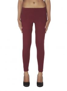 Kiara,La Intimo,Shonaya,Soie,Jagdamba,Cloe,Surat Diamonds Women's Clothing - Soie Solid Leggings Available In Many Colours (Product Code)_L-16Maroon 15_