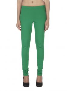 Ivy,Soie,Lime Women's Clothing - Soie Solid Leggings Available In Many Colours (Product Code)_L-16Pk Green 30_