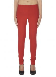 Vipul,Oviya,Soie,Kaamastra,Surat Tex,Bagforever,Hoop Women's Clothing - Soie Solid Leggings Available In Many Colours (Product Code)_L-16Red 7_