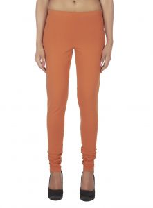Soie Solid Leggings Available In Many Colours (product Code)_l-16rust 12_