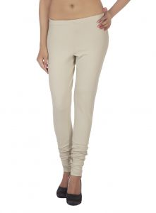 Soie,Unimod,Valentine,See More Women's Clothing - Soie Solid Leggings Available In Many Colours (Product Code)_L-16S. Beige 21_
