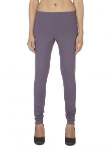 Kiara,La Intimo,Soie,Cloe,Pick Pocket,Lime,Surat Tex Women's Clothing - Soie Solid Leggings Available In Many Colours (Product Code)_L-16Stl Grey 27_